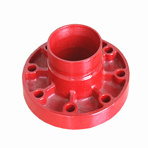 Ductile Iron Flange Adaptor, Orange, 3 Inch