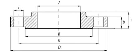 ANSI B16.5 Slip-on Flange, A105, RF, 150LB - Landee Flange