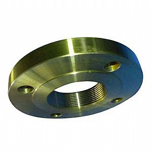 ASTM A182 NPT Thread Flange, Golden Coated, RF